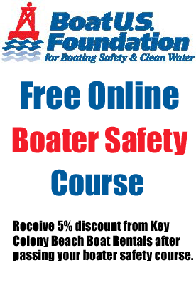 5% Discount upon successfully passing Boat US Free Boater Safety Course